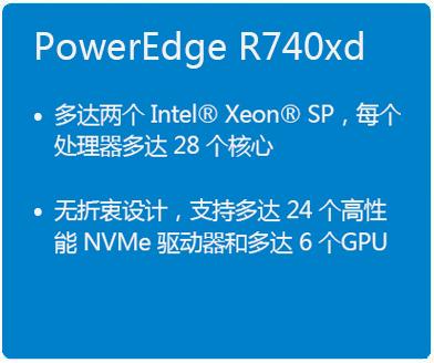 Dell PowerEdge R740xd 机架式服务器(英特尔至强® 银牌4114 2 2